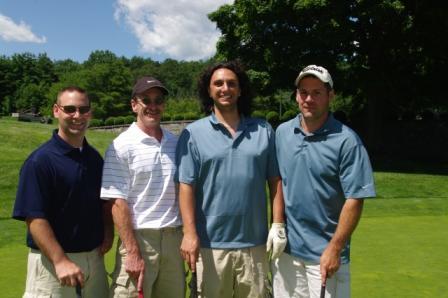 Suffield Education Association members Kevin Courchesne, Ron Kilby, Mark Janick, David Szabla.
