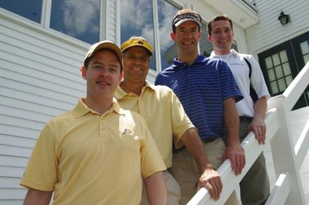Matt McLaughlin, James Ramenda, Tim Wren, and Pete Ciobacco of Golf Tournament Gold Sponsor Morgan Stanley Smith Barney.