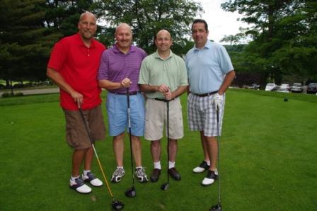 Education Association of Cromwell members Scott Penney, Ed Shank, Kurt Alletzhauser, and Bill Nemec.