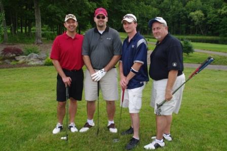 Wolcott Education Association members John Fish, Todd Jones, Michael Terry, and Al Blancato.