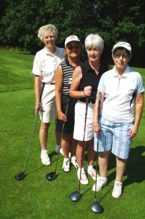 CEA Retired members Susan Sheehan, Cindy Lathrop, Kathy Zamagni, and Pat Primavera.