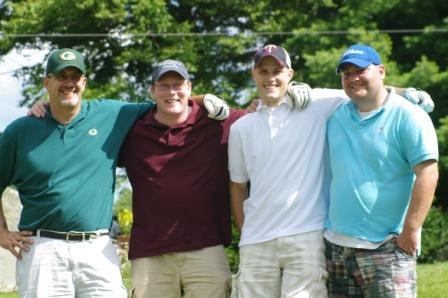 Glastonbury Education Association members Iveaux Anderson, Sean Fuss, Josh Steffenson, and George Householder.