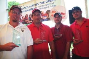 First place net winners of the 2009 CEF Golf Tournament were Stonington Education Association members Art Howe Jr., Tim Chokas, Manny MacDonald, and Billy Yuhas.