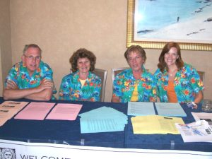 CEA staff assist delegates at the NEA RA. From left: Mike Lydick, Michelle Tine, Jean Dwyer, and Elizabeth Antonopoulos.