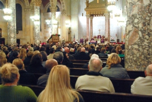 Teachers and community members gathered tonight in Waterbury to pay tribute to the students and educators lost in the Sandy Hook Elementary School shooting.