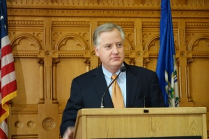 House Speaker Brendan Sharkey told the crowd at CT Voices for Children's Budget Forum this morning that