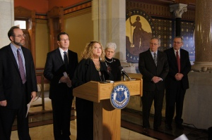 CEA President Sheila Cohen joined Governor Malloy and other state and teacher union leaders