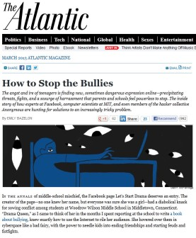 The Atlantic - Cyberbullying