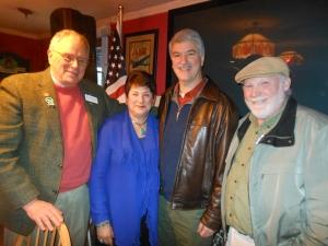From left, retired teacher Gene Schultz, Senator Andrea Stillman, Senator Don Williams, and East Hampton teacher Rob Wyllie.
