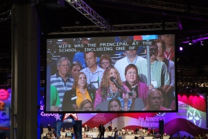 CEA President Sheila Cohen addressed nearly 9,000 delegates at the NEA RA last week, thanking them for their support
