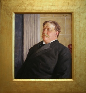 William Howard Taft, c. 1910, Oil on artist board by William Valentine Schevill. Photo by cliff1066™ via Flickr.