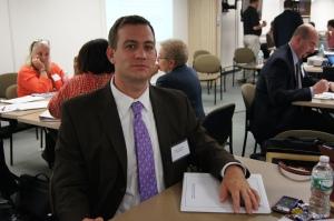 Matt Corcoran, a teacher at Crosby High School in Waterbury, hopes participating in the Network School program will help improve student achievement.