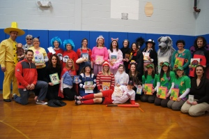 Teachers at Hubbard School in Berlin dressed as their favorite book characters to celebrate Read Across America Day.