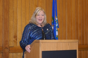 """Rep. Theresa Conroy told the retired educators, """"""""You're well spoken, you bring your issues to us very thoughtfully."""""""