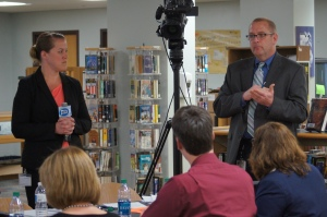 Norwich administrators Kristie and Joe spoke to the state's Common Core Task Force at a meeting today in Cromwell.