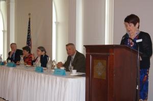 CEA-Retired President Gloria Brown addresses the retired educators.