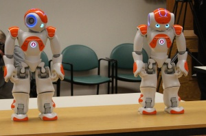 NAO robots Ben and Jerry are equipped with