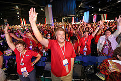 Over 7,000 NEA members from around the country will soon be gathering in Orlando for the 2015 NEA RA. Pictured above are delegates at the opening of the 2014 NEA RA.