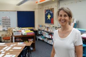 Latimer Lane third-grade teacher Kim Roth