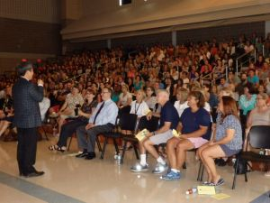 Dr. Yong Zhao addressed Madison Public School teachers at their convocation this week.