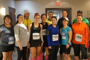 Some of the members of Team CEF before the Hartford Marathon.