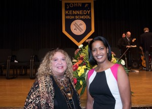 CEA President Sheila Cohen congratulated Hayes on her selection as Teacher of the Year.