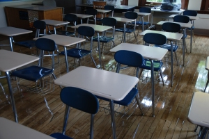 desks, classroom