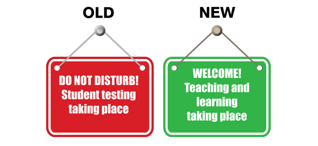 testing vs. learning signs