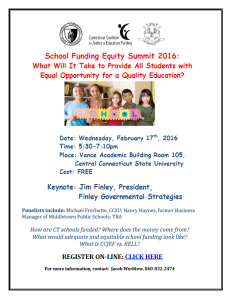 school funding forum flier