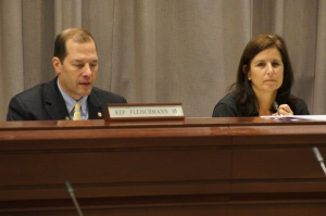 Education Committee Co-Chairs Andrew Fleischmann and Gayle Slossberg.