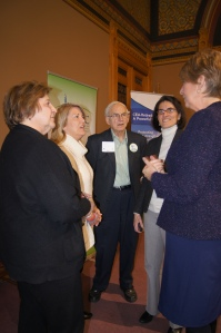 CEA-R members talked to Fairfield County legislators. Left to right, CEA-R member Marilyn Feranec, Rep. Brenda Kupchick, CEA-R members Walter Drozeck, Rep. Cristin McCarthy Vahey- a cosponsor of SB 380, and Rep. Laura Devlin.