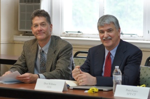 West Hartford Education Association President Ted Goerner and CEA Policy Director Don Williams represent CEA on the Mastery Examination Task Force.