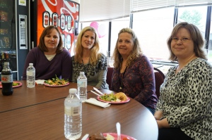 Teachers Tracy Faber, Colleen Marren, Cathy Mosure, and Jennifer Knisley.