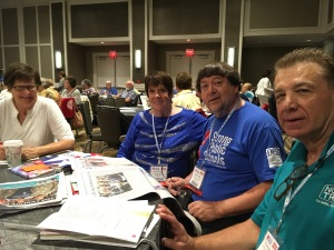 CEA-Retired members Mary Beth Lang, CEA-Retired President Gloria Brown, Bob Brown, and Vice President William Murray have joined retired colleagues from around the country.