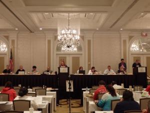 CEA delegates meet prior to the start of the NEA RA.