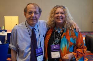 Public education advocate Jonathan Kozol with CEA President Sheila Cohen.