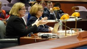 Deputy Commissioner of Education Ellen Cohn and Commissioner of Education Dianna Wentzell.