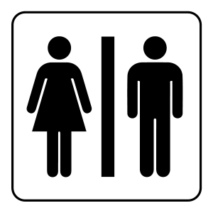 Wc Black Sign